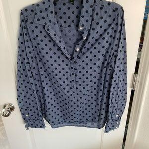 J Crew half button down shirt